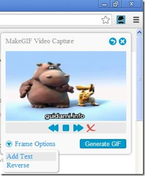 MakeGIF per Chrome generare la GIF animata