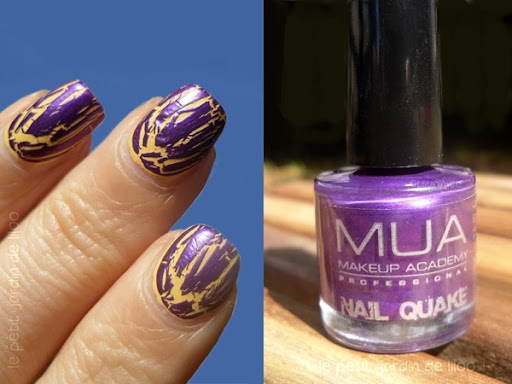 Purple Crackle Nail Polish