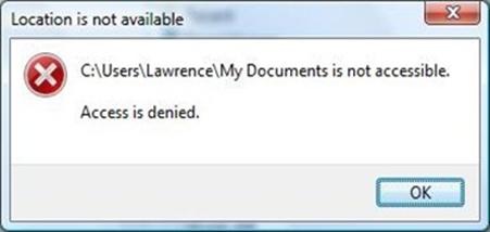 Acces Denied Pada Folder atau File saat dibuka