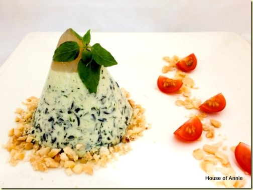 Basil Panna Cotta