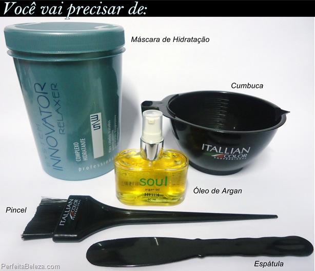hidratação com óleo de argan