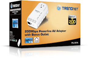 TRENDnet Compact 200 Mbps Powerline Adapter with Bonus Plug