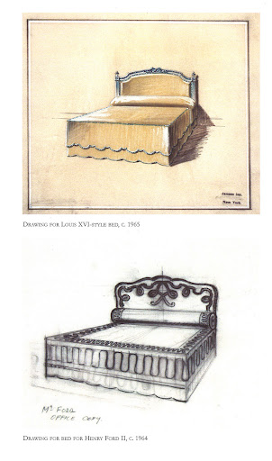 The bottom sketch was made for Henry Ford. I wonder if this bed ever came to realization or made its way to Skylands, where his son Edsel resided. As if I didn't have Skylands on my mind enough with this gorgeous spring weather.