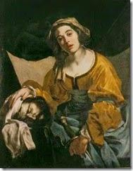 1640 Cavallino, Bernardo (1616 - 1656), Judith avec la tête d'Holohern-e,