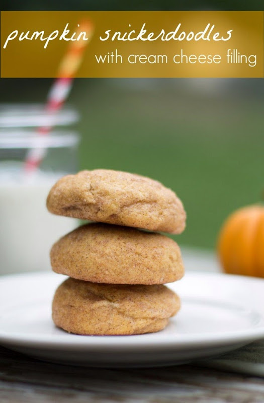 pumpkin snickerdoodles with cream cheese