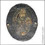 А.4-4 Фасадная доска  «Застраховано. Саламандра». Латунь, ? х ?  мм. Конец XIX в.  Из  коллекции Мышкинского музея