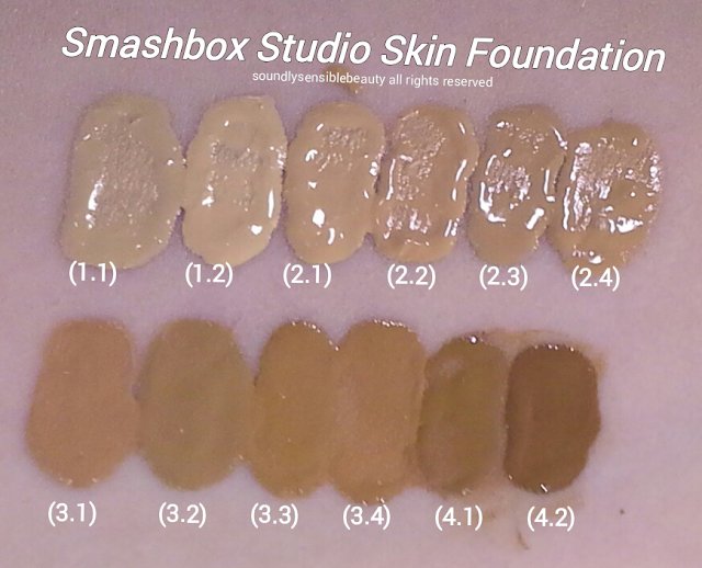 Smashbox 15 Hour Foundation Studio Skin; Review & Swatches of Shades