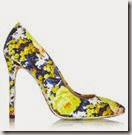 MSGM Floral Print Canvas Pumps