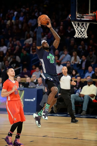 lebron james nba 140216 all star new orleans 53 game Gallery: LBJ Wears Gator King LeBron 11 in 2014 NBA All Star Game