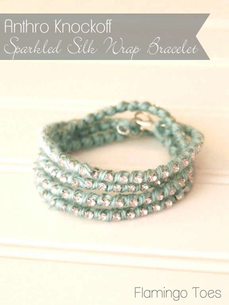 Anthro-Knockoff-Sparkled-Silk-Wrap-Bracelet