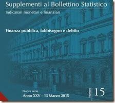 Supplemento al bollettino statistico. Marzo 2015