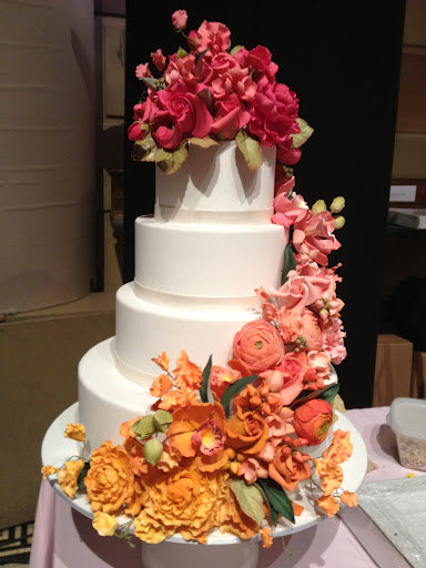 Loved the ombre blooms on this Ron Ben-Israel cake.