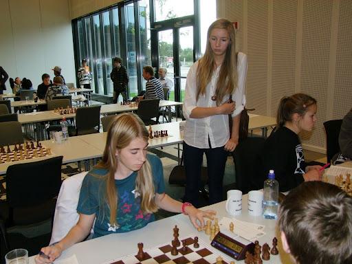 Ferdig for dagen: Kristiansands førstebordspiller, Erle Andrea Marki Hansen vant alle sine partier.