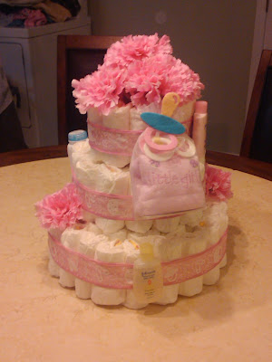 girl diaper cake pink accents | Cordier Events Antrelle Blogs