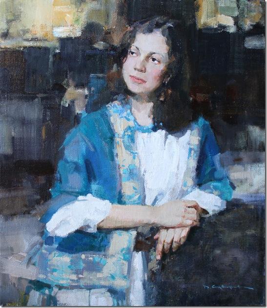 Girl in Blue-Vadim-Suvorov-ENKAUSTIKOS