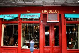 Lucullus,owned by Patrick Dunne, is one of my favorite antique shops.