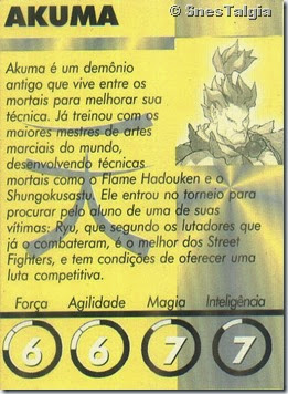 Akuma-Card Street Fighter Zero 2