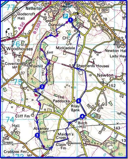 Our route - 10km, 250m ascent, about 2.5 hours