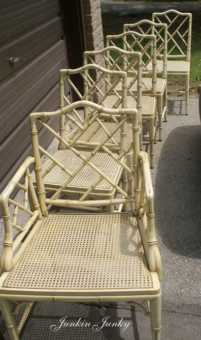 faux bamboo Chippendale chairs at Junkin Junky