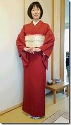 着物でお子様の卒業式に (1)