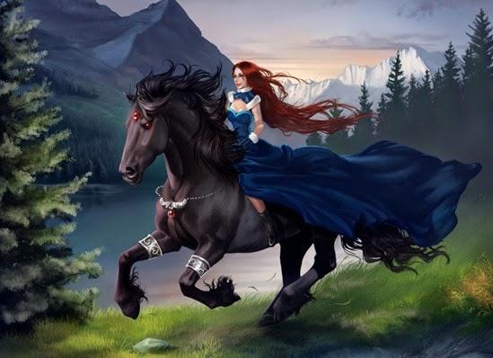 hermosa-mujer-sobre-su-caballo-negro-woman-and-her-black-horse-aomori