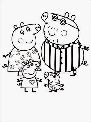 peppa-pig-cartoon-free-colorir-familia