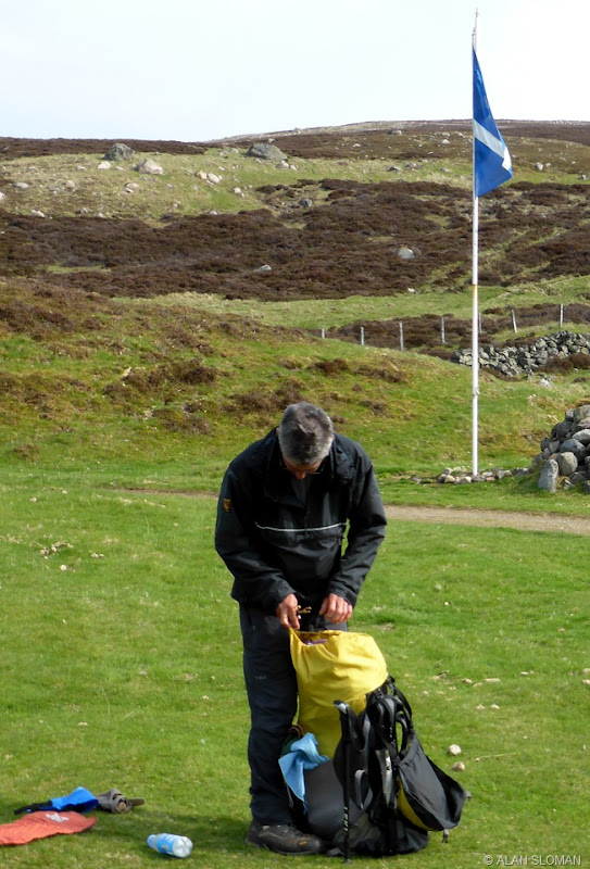 PHIL PACKING UP AT CALLATER LODGE