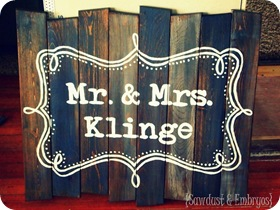 Distressed Barn Wood Sign