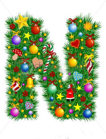 Moldes letras de navidad - Lettres alphabet originales ...