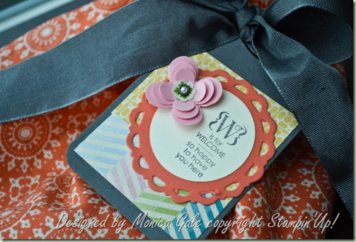 Tea for Two fabric pillow gifts tags