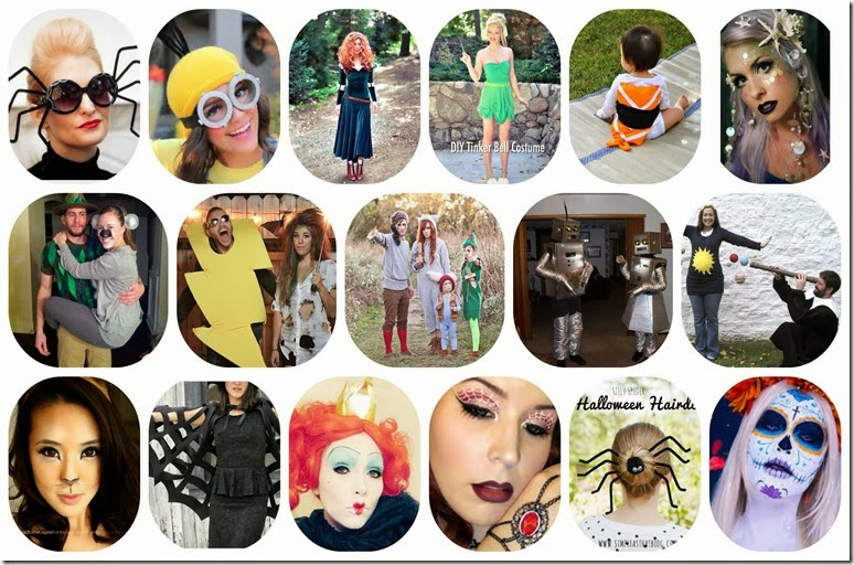 hallooween costumes collage