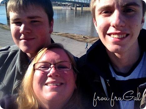Suesan with Noah and Sam