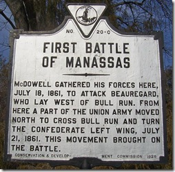 First Battle o f Manassas, Marker No. C-20 Centreville, VA