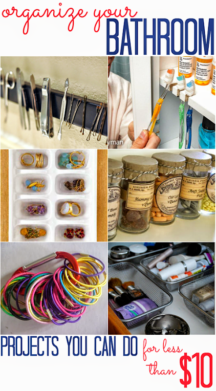 Bathroom Organization Projects (that cost less than $10!)