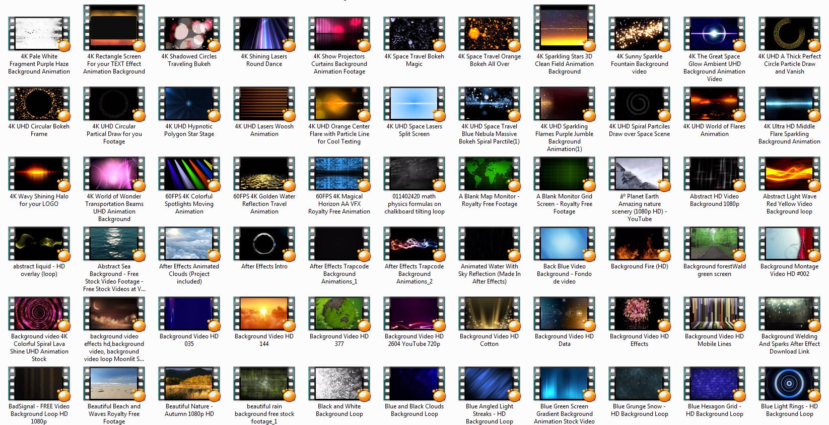 Video Arkaplanlar (~500 adet)