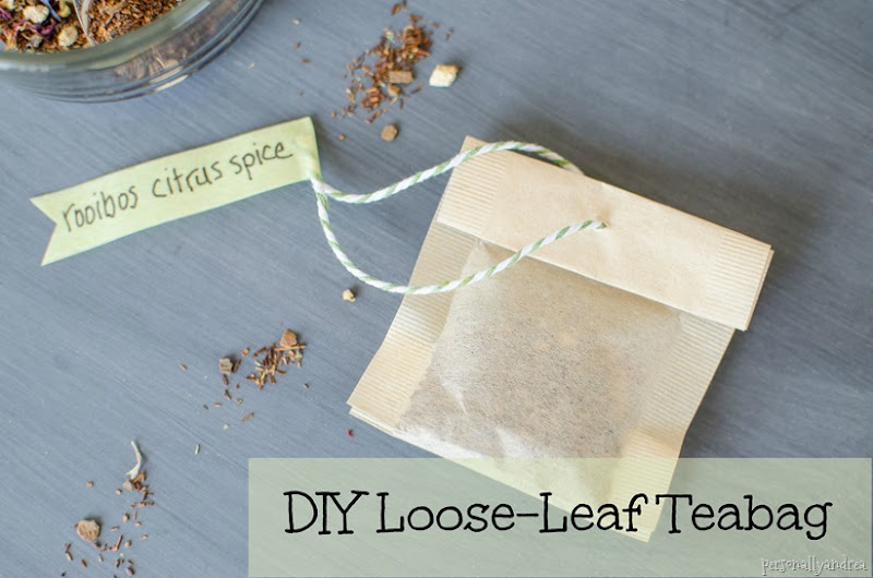 DIY Loose Leaf Teabag |  personallyandrea.com