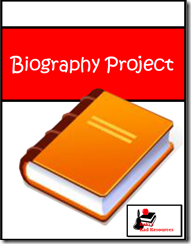 Biography project for elementary age students from Raki's Rad Resources