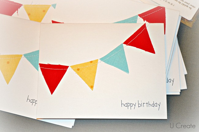 Happy Birthday Card using scraps!! u-createcrafts.com