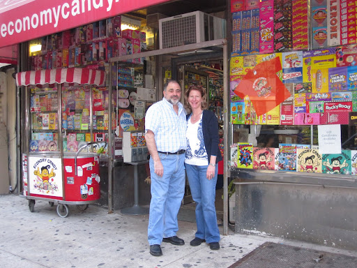 Jerry and Ilene outside of the store.