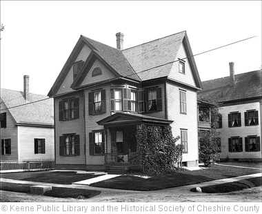 'Unknown House in Keene New Hampshire' photo (c) 2011, Keene Public Library and the Historical Society of Cheshire County - license: http://www.flickr.com/commons/usage/