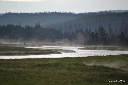 Fishermen in the mist