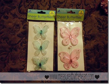 butterflies from dollar store hair clips