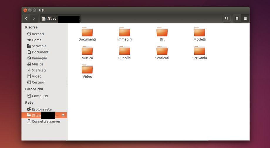 Nautilus . accesso via SFTP/ SSH