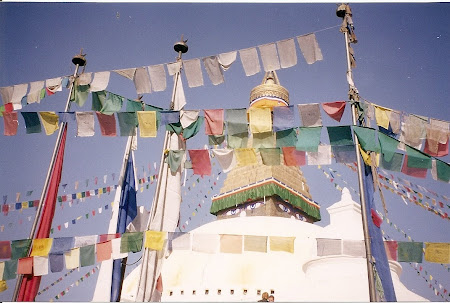 Things to do in Nepal: visit the stupa from Bouddha