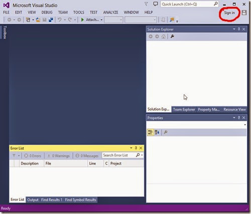 Register Visual Studio