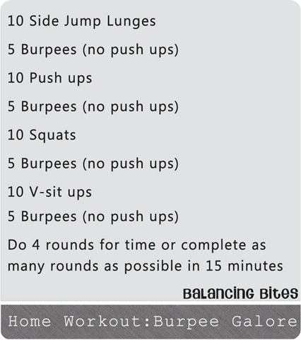 Home Workout Burpee Galore