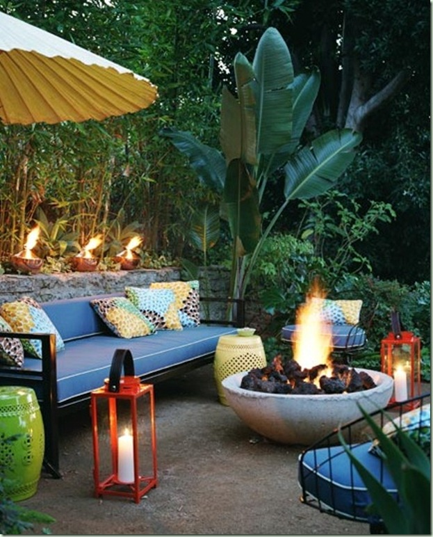Lime in the coconut planning a midsummer night s eve garden party - Types fire pits cozy outdoor spaces ...