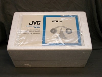 JVC model 8008 radio, box and insert