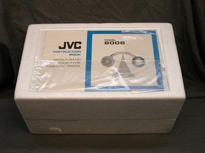 JVC model 8008 radio, box and insert
