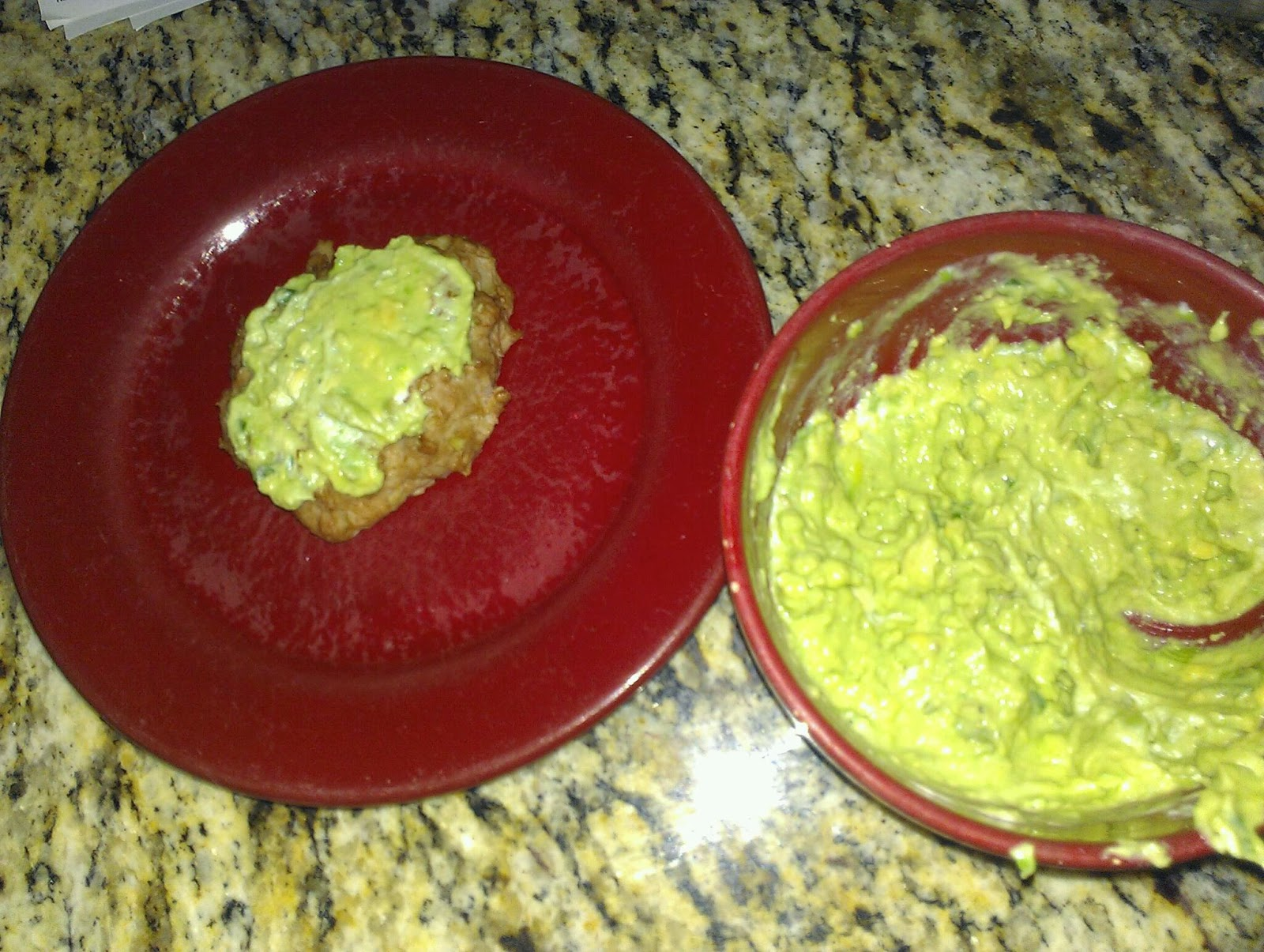 ... herbed avocado spread on the left and herb avocado spread on the right